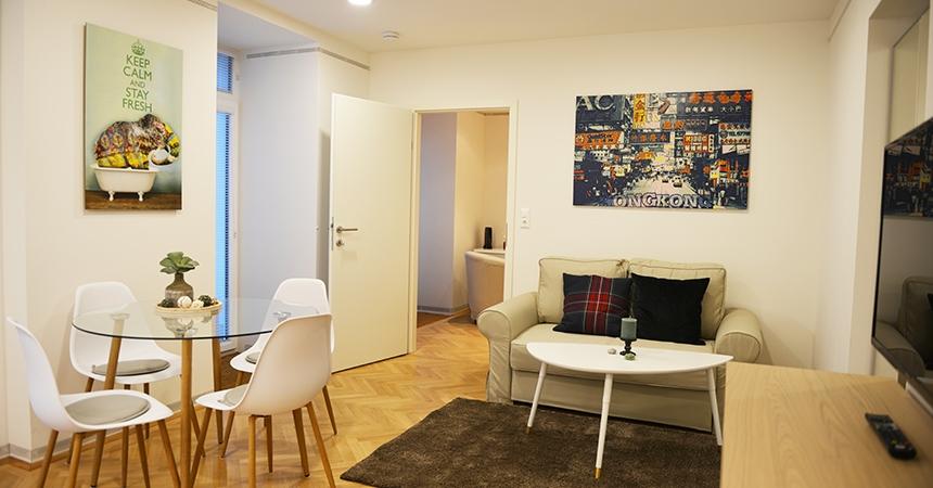 1030 Wien, Rechte Bahngasse Wohnzimmer